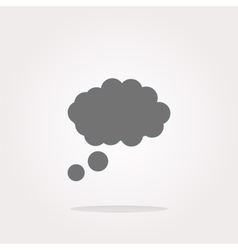 abstract cloud web icon button vector image