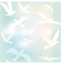 bird fly vector image