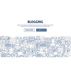 Blogging banner design vector