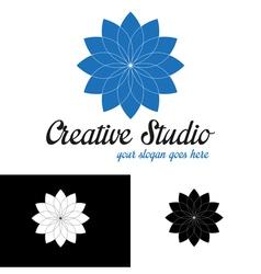 Blue abstract logo template vector