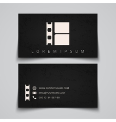 Business card template Film strip concept logo vector image vector image
