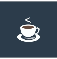 cup of coffe vector image vector image