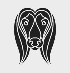 Cute dog logo vector