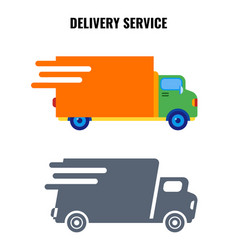 delivery service very quick vans on vector image vector image