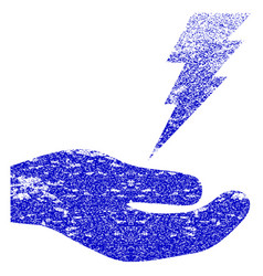 Electric service hand textured icon vector