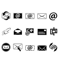 Email symbol icons set vector