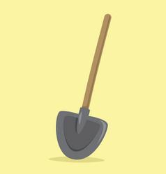 flat shovel vector image vector image
