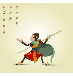 Fun cartoon Hanuman vector image vector image