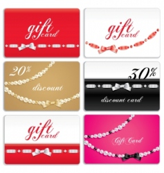 gift card set vector image vector image