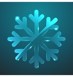 glass snowflake icon Eps10 vector image vector image