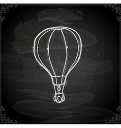 Hand drawn hot air balloon vector