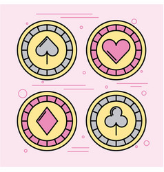 icon set casino bets open vector image
