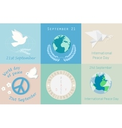 International Day of Peace design symbols vector image
