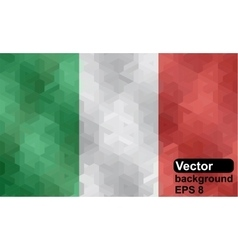 Italian flag made of geometric shapes vector image vector image