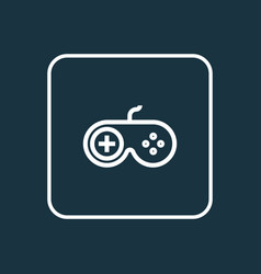 joystick outline symbol premium quality isolated vector image vector image