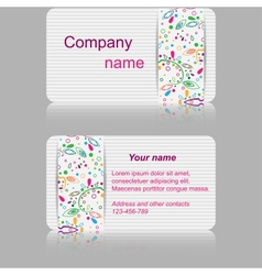 Light gray business card with abstract pattern vector image vector image