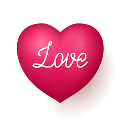 Love red heart vector