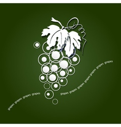Paper grapes vector
