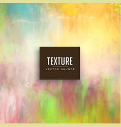 Pastel color watercolor texture stain background vector