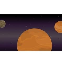 Planet space landscape of vector