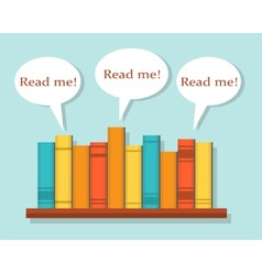 Read Books vector image