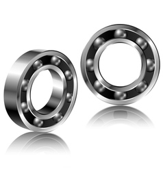 Realistic bearing set vector