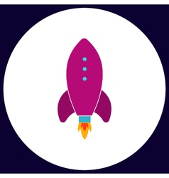 Rocket computer symbol vector