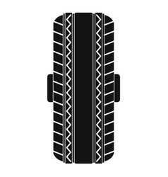Rubber tyre icon simple style vector