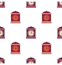 Seamless pattern with clock vector image vector image