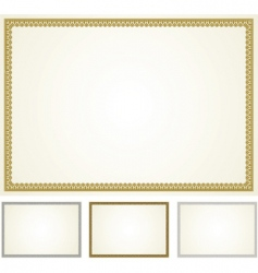 set of ornament frames vector image vector image