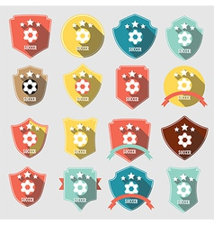 Set of vintage-style soccer championship vector image