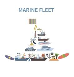 Ship concept flat vector