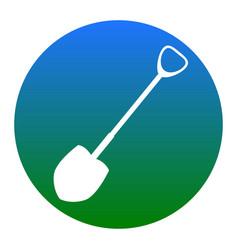 Shovel to work in the garden white icon vector