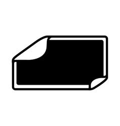 square sticker icon vector image vector image