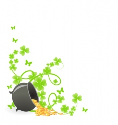 St Patrick's pattern corner vector image vector image