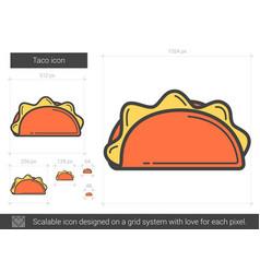Taco line icon vector