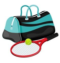 Tennis equipment vector image