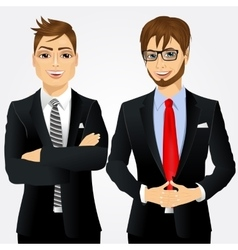two young businessmen vector image vector image
