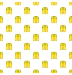 Yellow shorts for swimming pattern cartoon style vector