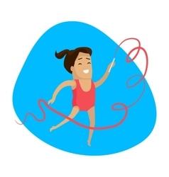 Summer games colorful banner artistic gymnastics vector
