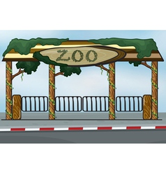 A zoo entrance vector image