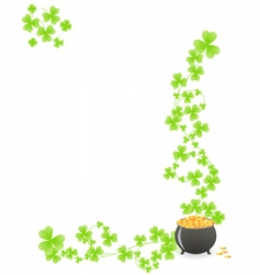 St patricks pattern corner vector