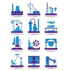 Plants for light and heavy industry vector