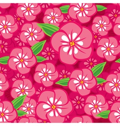 Flower seamless pink vector
