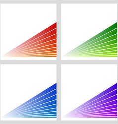Simple abstract stripe background set vector
