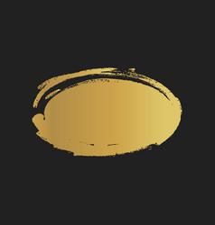 Golden grunge vintage painted ellipse shapes vector