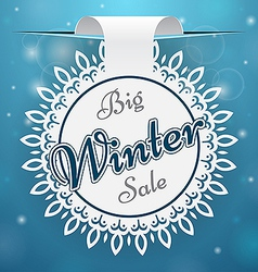 Paper price tag big winter sale vector