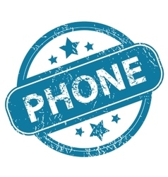 Phone round stamp vector