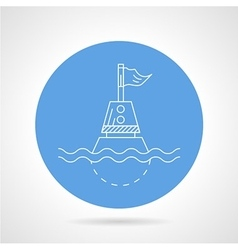 Blue icon for direction buoy vector