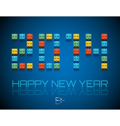 2014 happy new year background vector